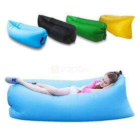 Надуваемо легло тип Air Soft Bubble Bed / Lazy Sofa Bag